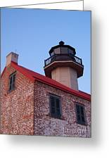 The Light At East Point Greeting Card