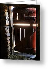 The Light Enters Barn Greeting Card