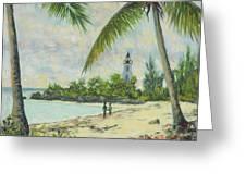 The Lighthouse - Zanzibar Greeting Card