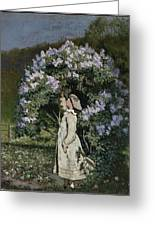 The Lilac Bush Greeting Card
