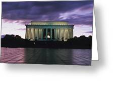 The Lincoln Memorial At West End Greeting Card