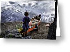 The Little Fisherman Greeting Card