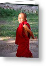The Little Monk Of Mingun Greeting Card by RicardMN Photography