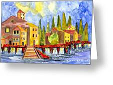 The Little Village Greeting Card