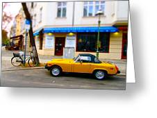 The Little Yellow Car Greeting Card