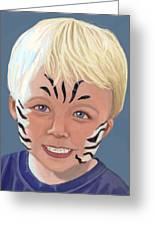 The Littlest Zebra Greeting Card