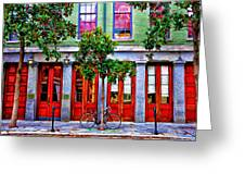 The Locked Bicycle - New Orleans Greeting Card
