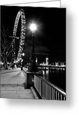 The London Eye At Night Greeting Card