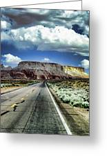 The Long And Lonely Road Greeting Card by Ellen Heaverlo