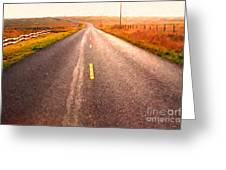 The Long Road Home . Painterly Style Greeting Card