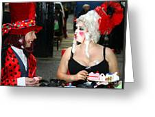 The Mad Hatter And The Red Queen Greeting Card