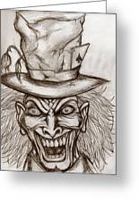 The Mad Hatter Greeting Card by Michael Mestas