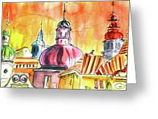 The Magical Roofs Of Prague 01 Bis Greeting Card