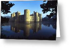 The Majestic Bodiam Castle And Its Greeting Card