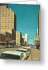 The Majestic Theatre In Abilene Tx 1958 Greeting Card