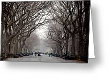 The Mall Central Park Greeting Card