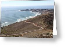 The Marin Headlands - California Shoreline - 5d19593 Greeting Card