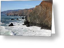 The Marin Headlands - California Shoreline - 5d19692 Greeting Card by Wingsdomain Art and Photography