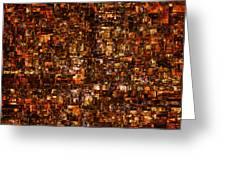 The Masses Of Metropolis Greeting Card