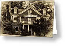 The Mermaid Inn - Chestnut Hill Greeting Card