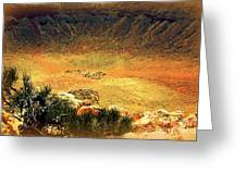The Meteor Crater In Az 1 Greeting Card
