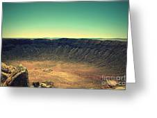 The Meteor Crater In Az 4 Greeting Card