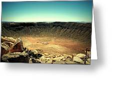The Meteor Crater In Az Greeting Card