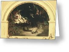 The Midsummer Night's Fairies Greeting Card by Robert Huskisson