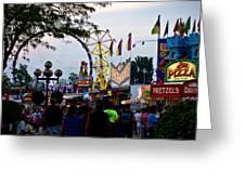 The Midway Lights Up Greeting Card