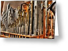 The Mighty Wurlitzer Pipes Detroit Mi Greeting Card