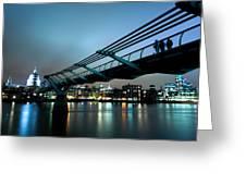 The Millennium Bridge Greeting Card