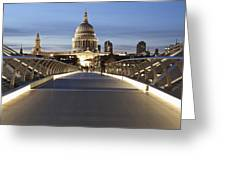 The Millennium Bridge Looking North Greeting Card