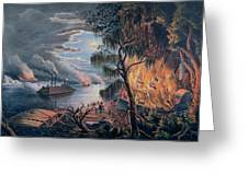 The Mississippi In Time Of War Greeting Card