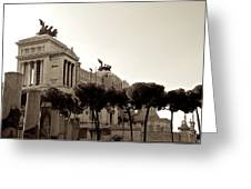 The Monumento Nazionale A Vittorio Emanuele II Greeting Card