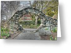 The Moon Gate Greeting Card