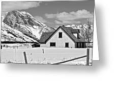 The Moulton House In Winter Greeting Card