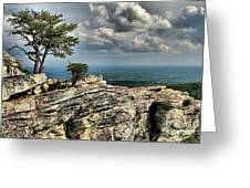 The Mountain Lookout Greeting Card