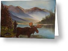 The Mountain Moose Greeting Card