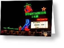 The Mountaineer Inn Neon Motel Series Greeting Card