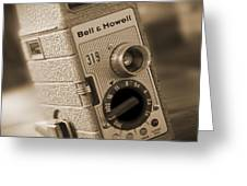 The Movie Camera Greeting Card by Mike McGlothlen