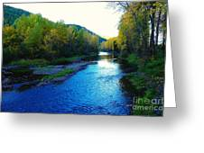 The Moyie River Near Yak B C Greeting Card