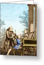 The Mozart Family On Tour 1763 Greeting Card