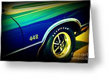 The Muscle Car Oldsmobile 442 Greeting Card