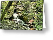 The Mystery Waterfall Greeting Card