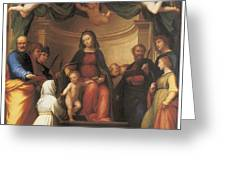 The Mystical Marriage Of Saint Catherine Greeting Card by Fra Bartolomeo