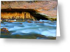 The Narrows Virgin River Zion 4 Greeting Card