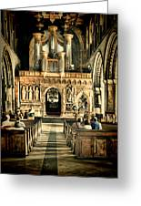 The Nave At St Davids Cathedral 2 Greeting Card