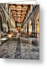 The Nave At St Davids Cathedral 3 Greeting Card