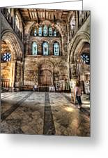 The Nave At St Davids Cathedral 5 Greeting Card
