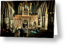 The Nave At St Davids Cathedral Greeting Card